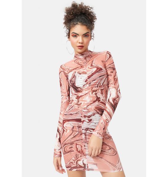 Cyclone Daze Mesh Bodycon Dress