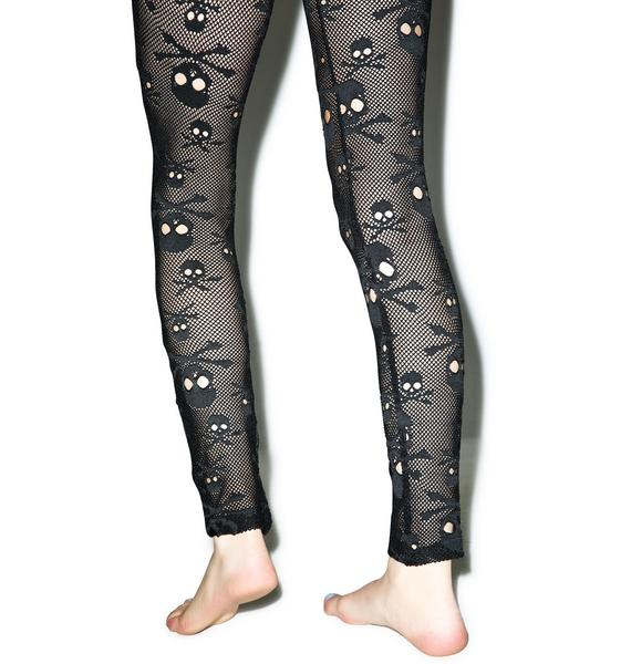 Tripp NYC Fishnet Skull Leggings