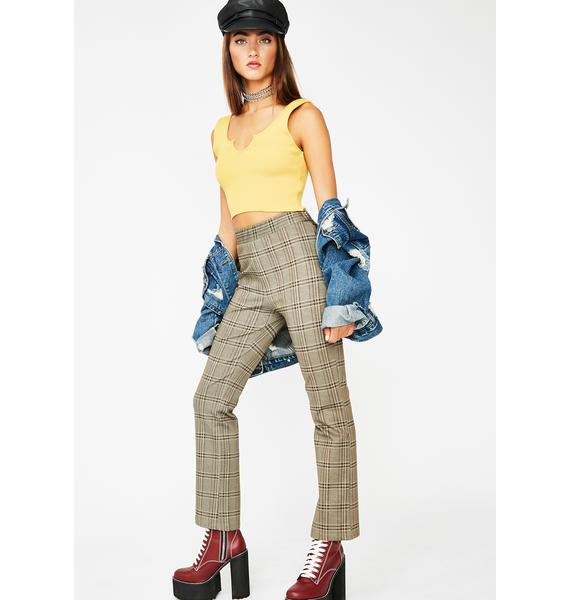 Know It All Plaid Pants