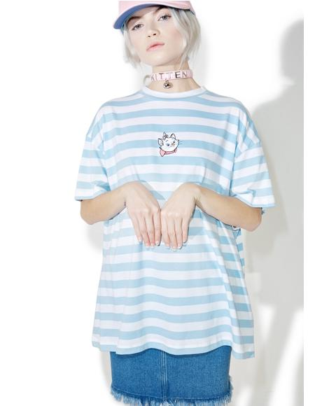 X Disney Aristocats Marie Stripe Tee