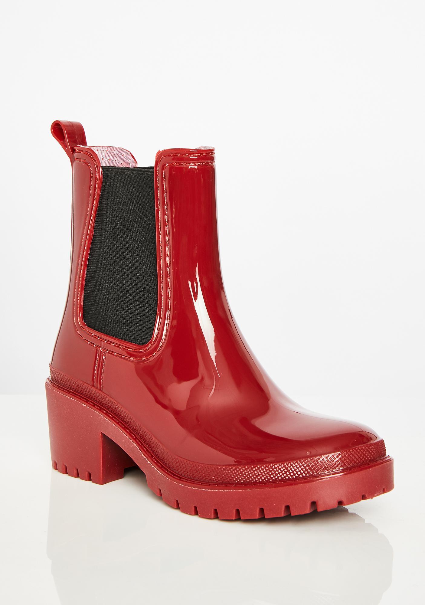 Devil Splish Splash Patent Boots