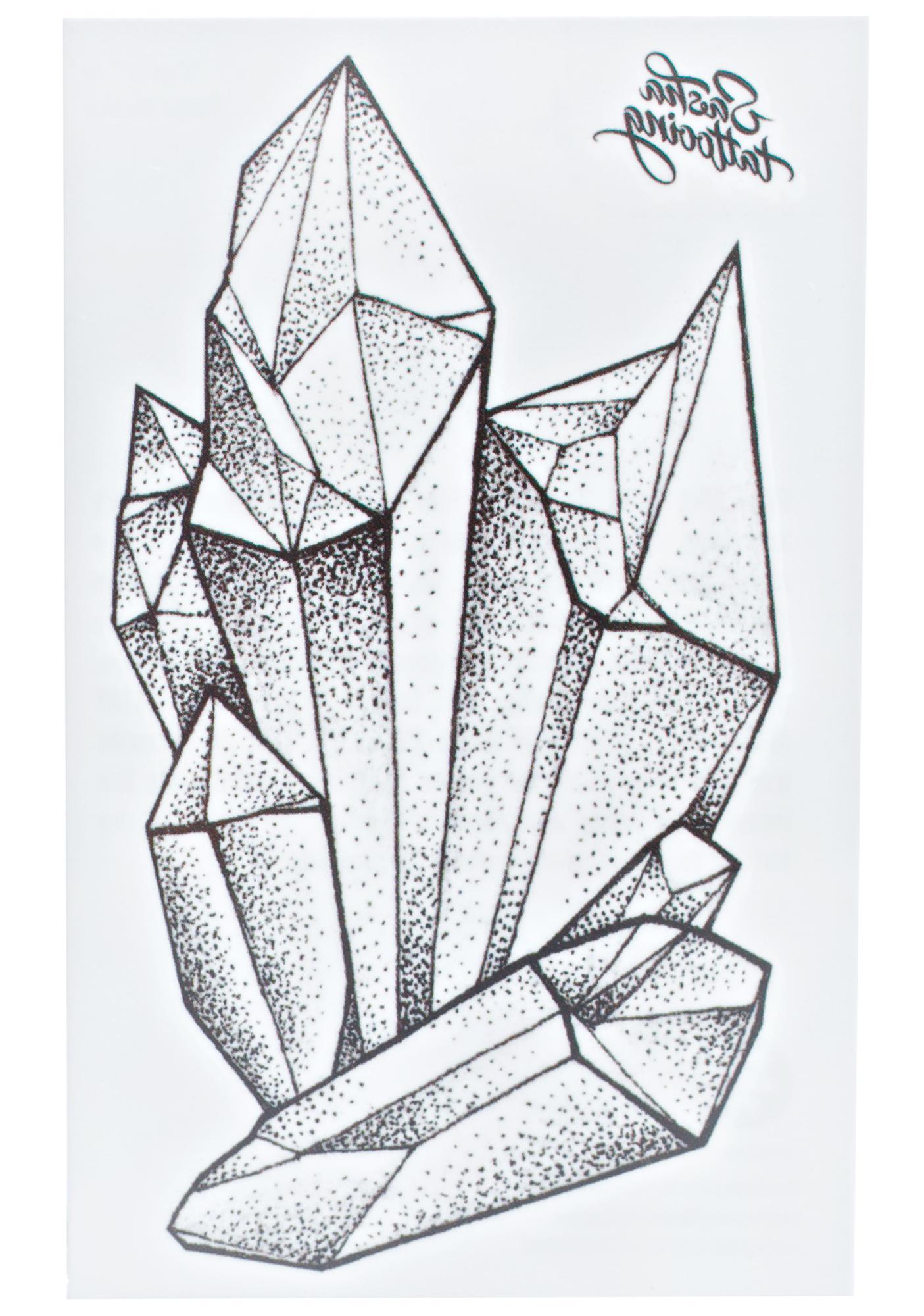 Crystals Temporary Tattoo
