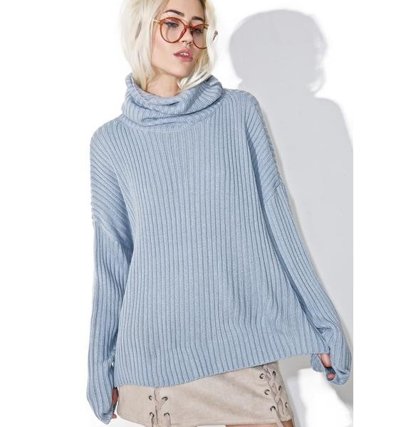 Morning Glory Turtleneck Sweater