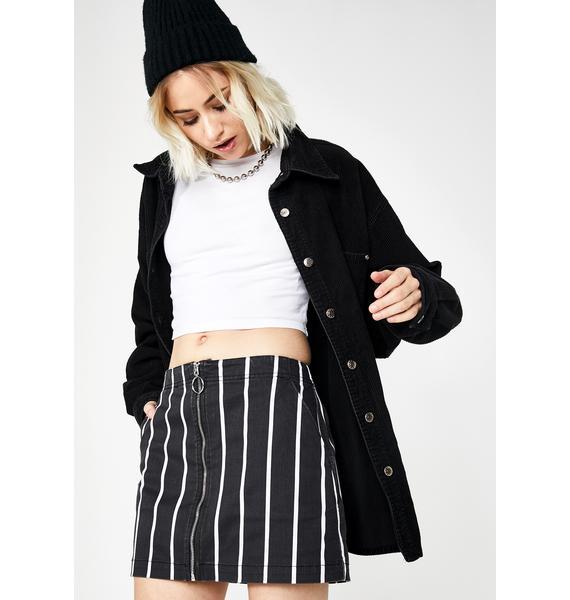 Volcom Striped Frochickie Skirt