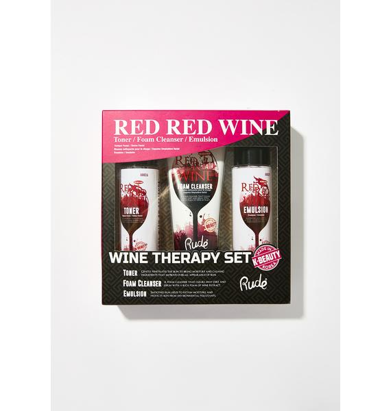 Rude Cosmetics Red Red Wine Therapy Set