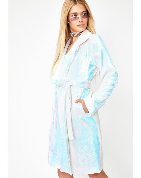 Crystal Dimension Trench Coat