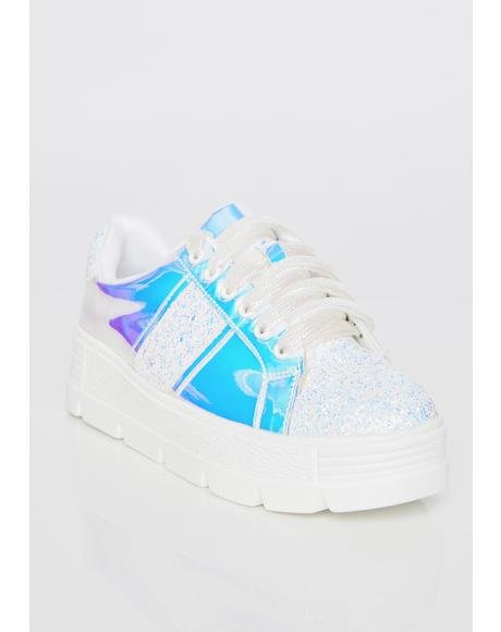 Icy Cosmic Clique Hologram Sneakers