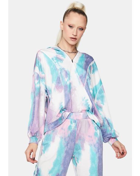Trippy Trance Oversized Tie Dye Hoodie
