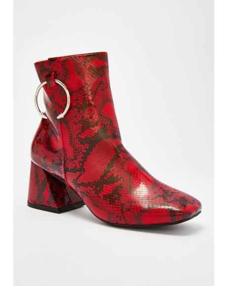Sidewinder Snakeskin Boots