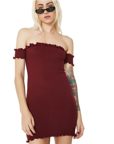 Slim Chance Off-Shoulder Dress