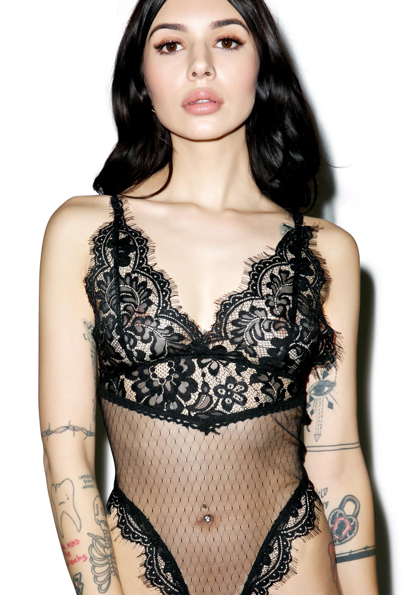About Last Night Lace Bodysuit