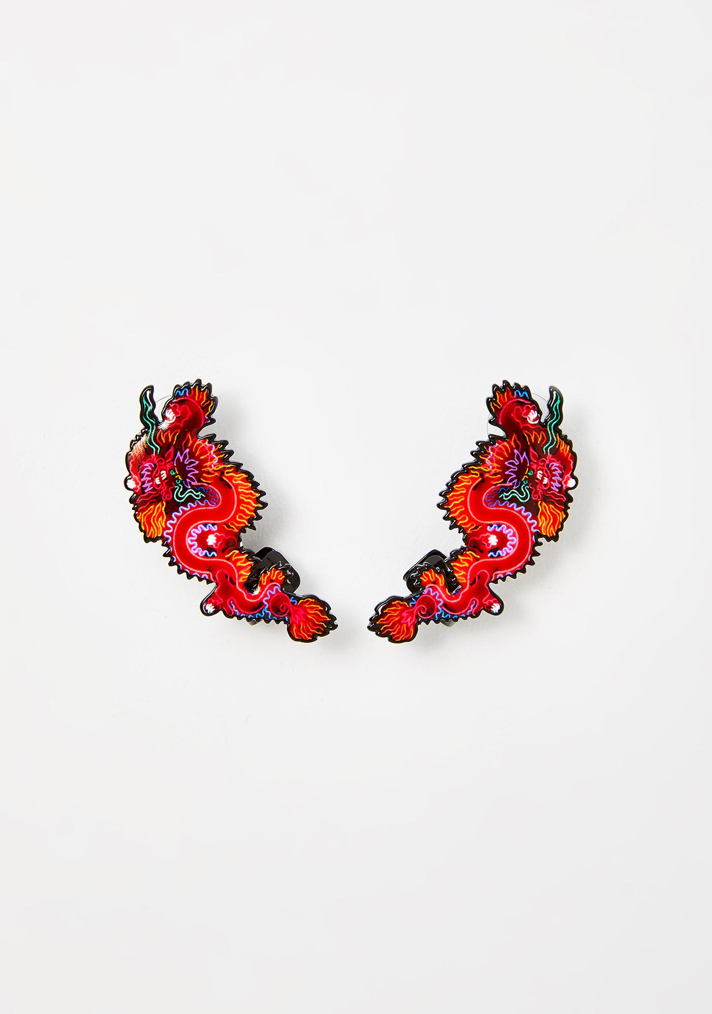 Mystic Tamer Dragon Earrings