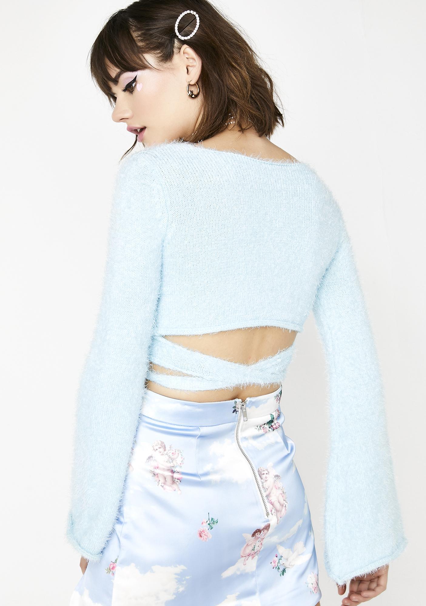 Sugar Thrillz Saintly Sassy Wrap Sweater