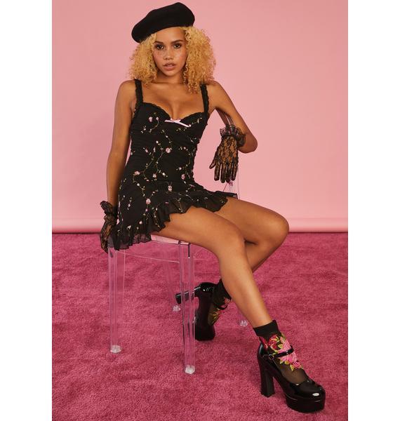 Sugar Thrillz Midnight I'm Baby Slip Dress