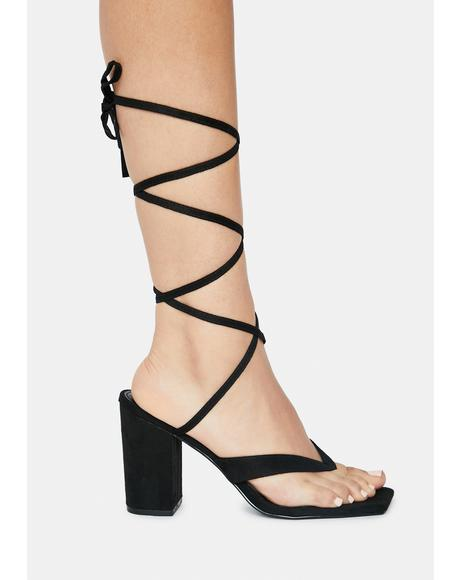 On The Town Strappy Heels
