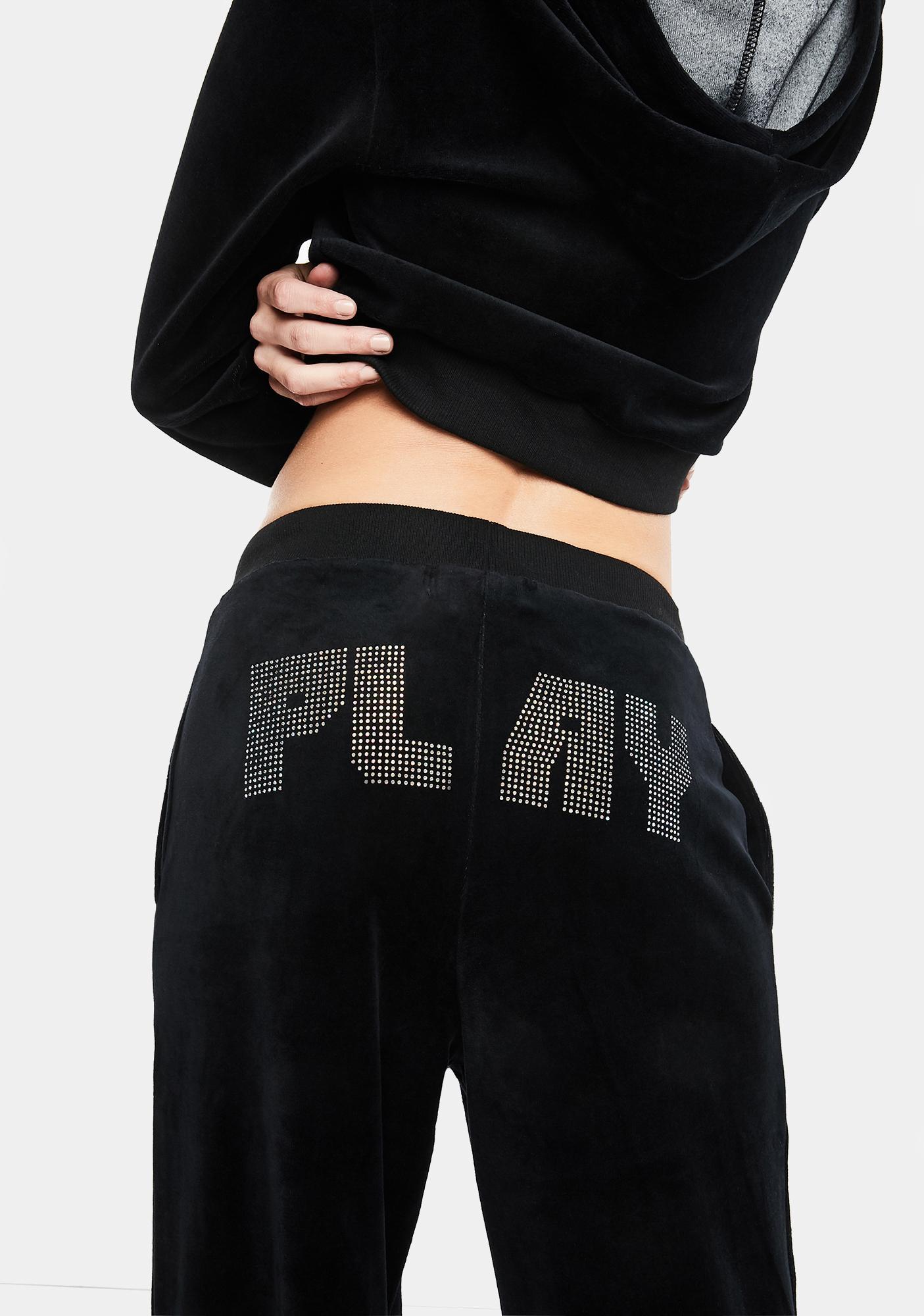 Club Exx Press Play Velour Track Pants