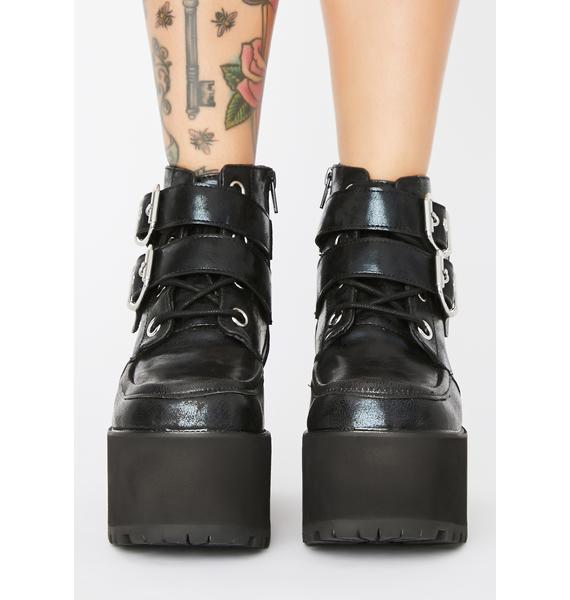 T.U.K. Nosebleed Buckle Boots