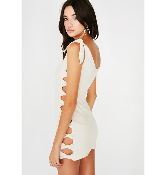 Between The Lines Mini Dress