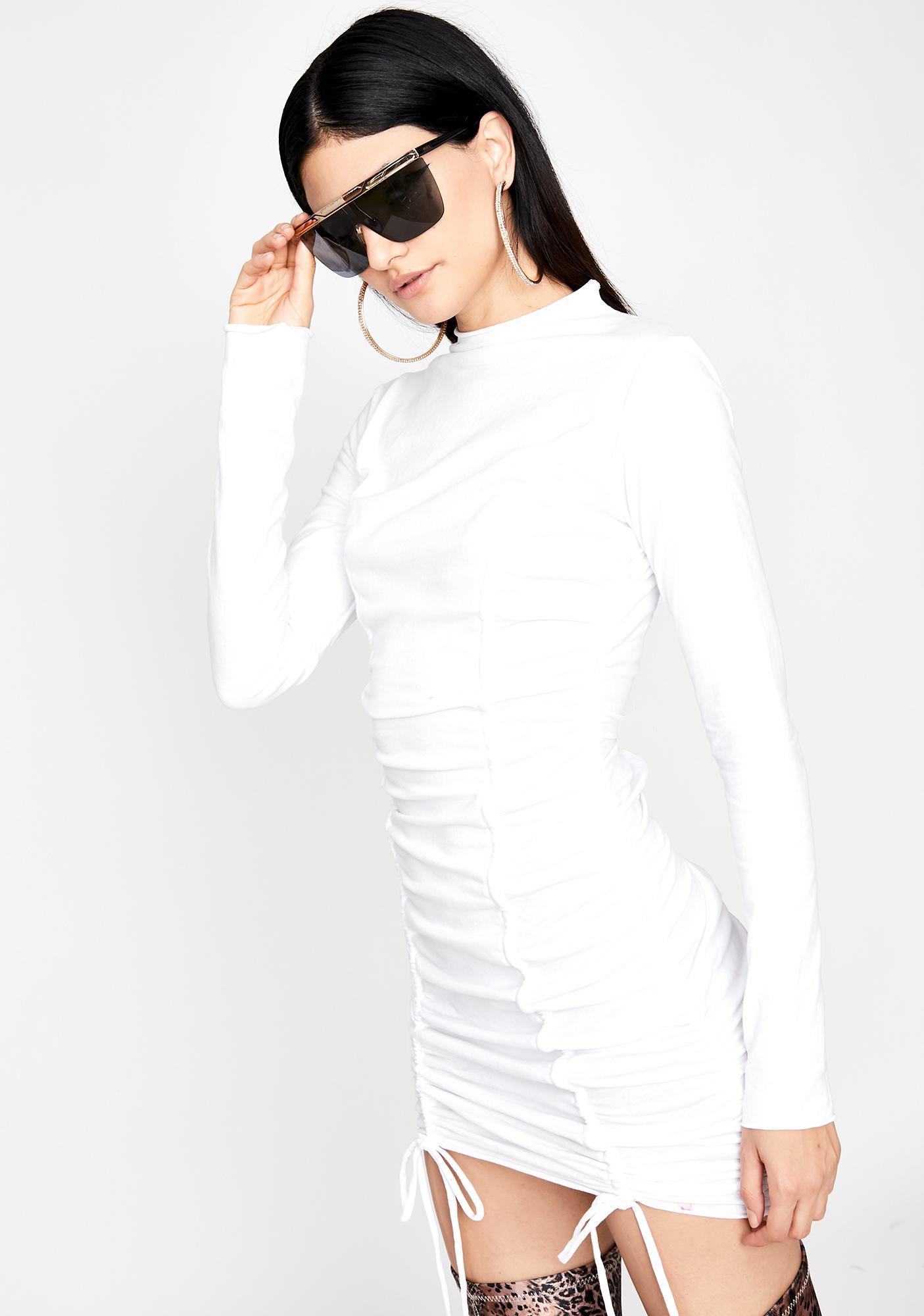 Innocent Miss Baddie Ruched Dress