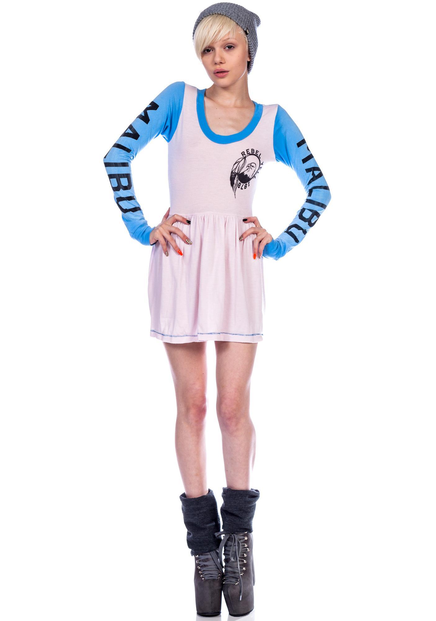 Rebel Yell Track and Field Mini Dress