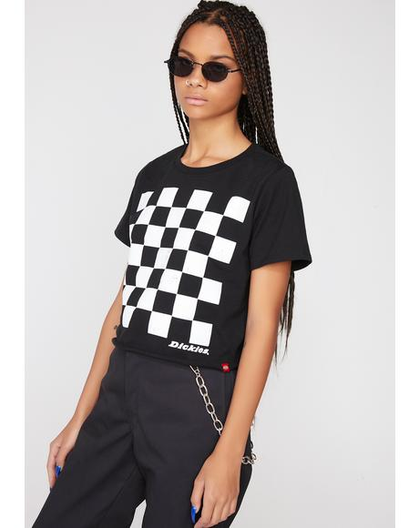 Checkered Crop Tee