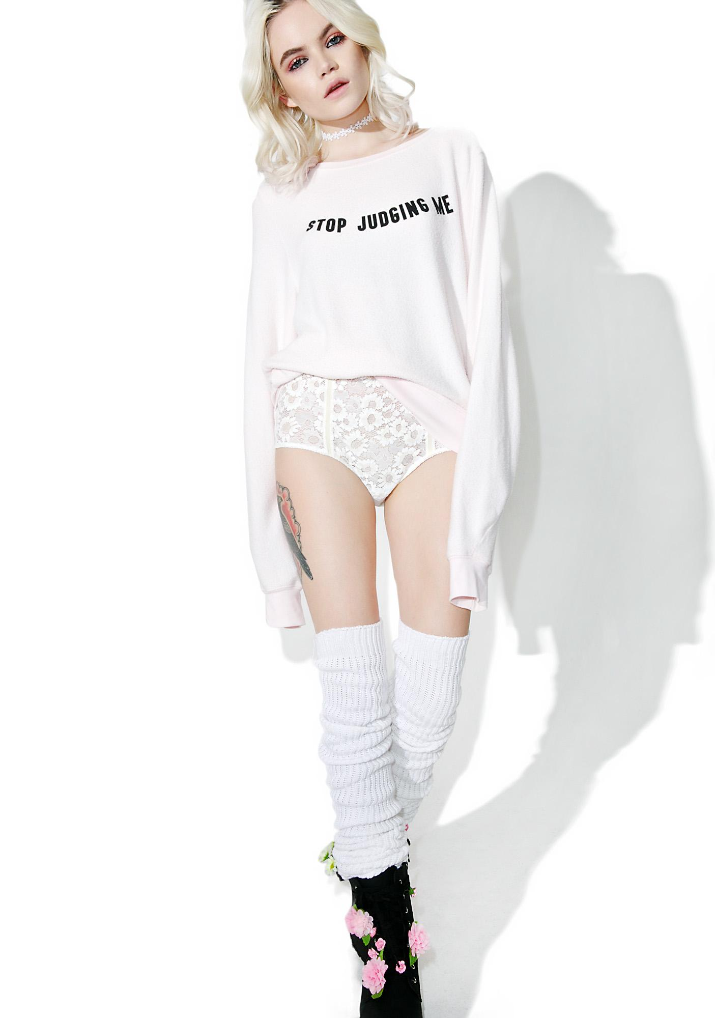 Wildfox Couture Stop Judging Baggy Beach Jumper