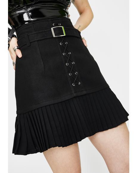 Punk Pleated Mini Skirt