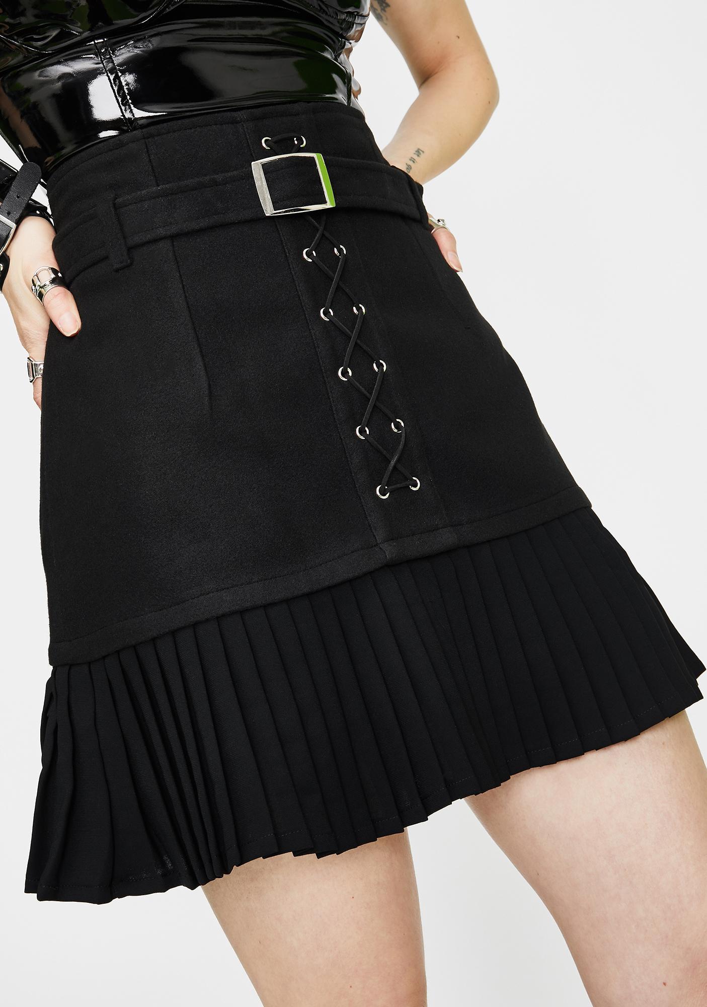 Punk Rave Punk Pleated Mini Skirt