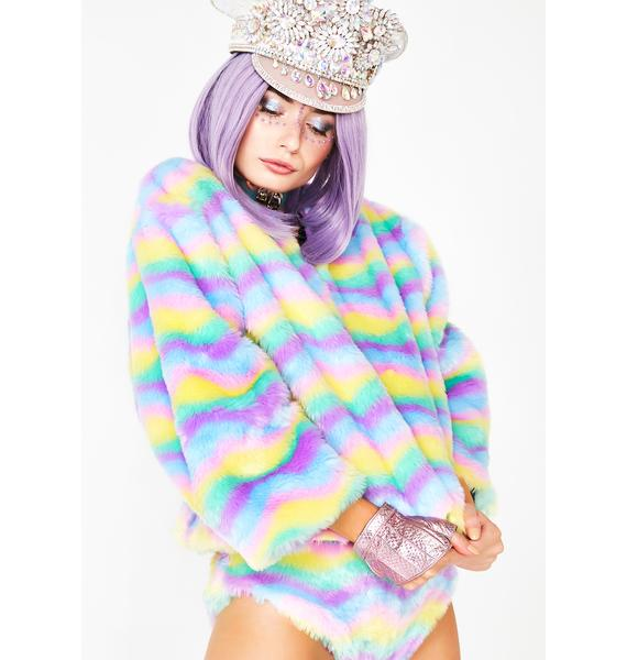 Isolated Heroes Sherbet Delight Faux Fur Jacket