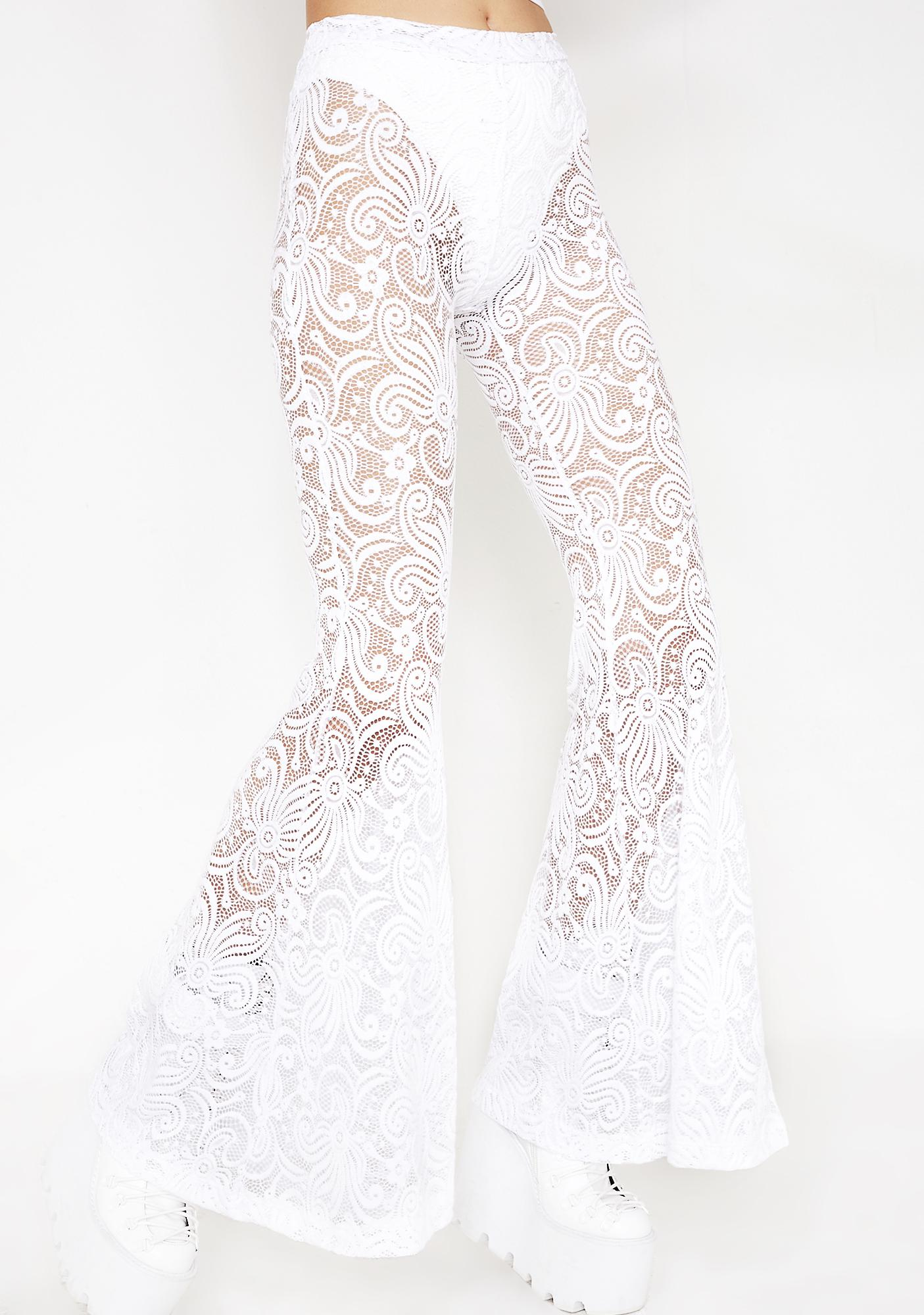 J Valentine Cyclone Lace Bell Bottoms