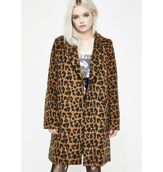 Wanna Play Leopard Coat