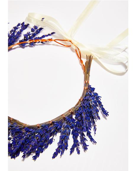 Lavender Dried Flower Crown