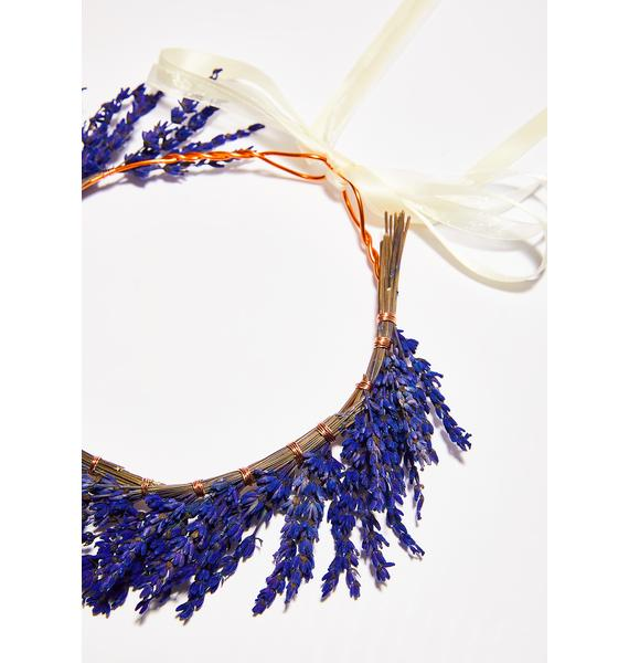 Rock n Rose Lavender Dried Flower Crown