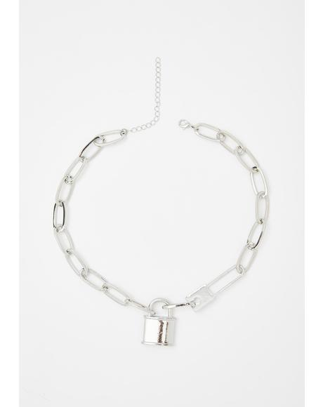 Locked Away Chain Choker