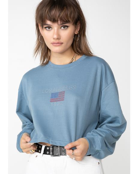 Los Angeles Cropped Sweatshirt