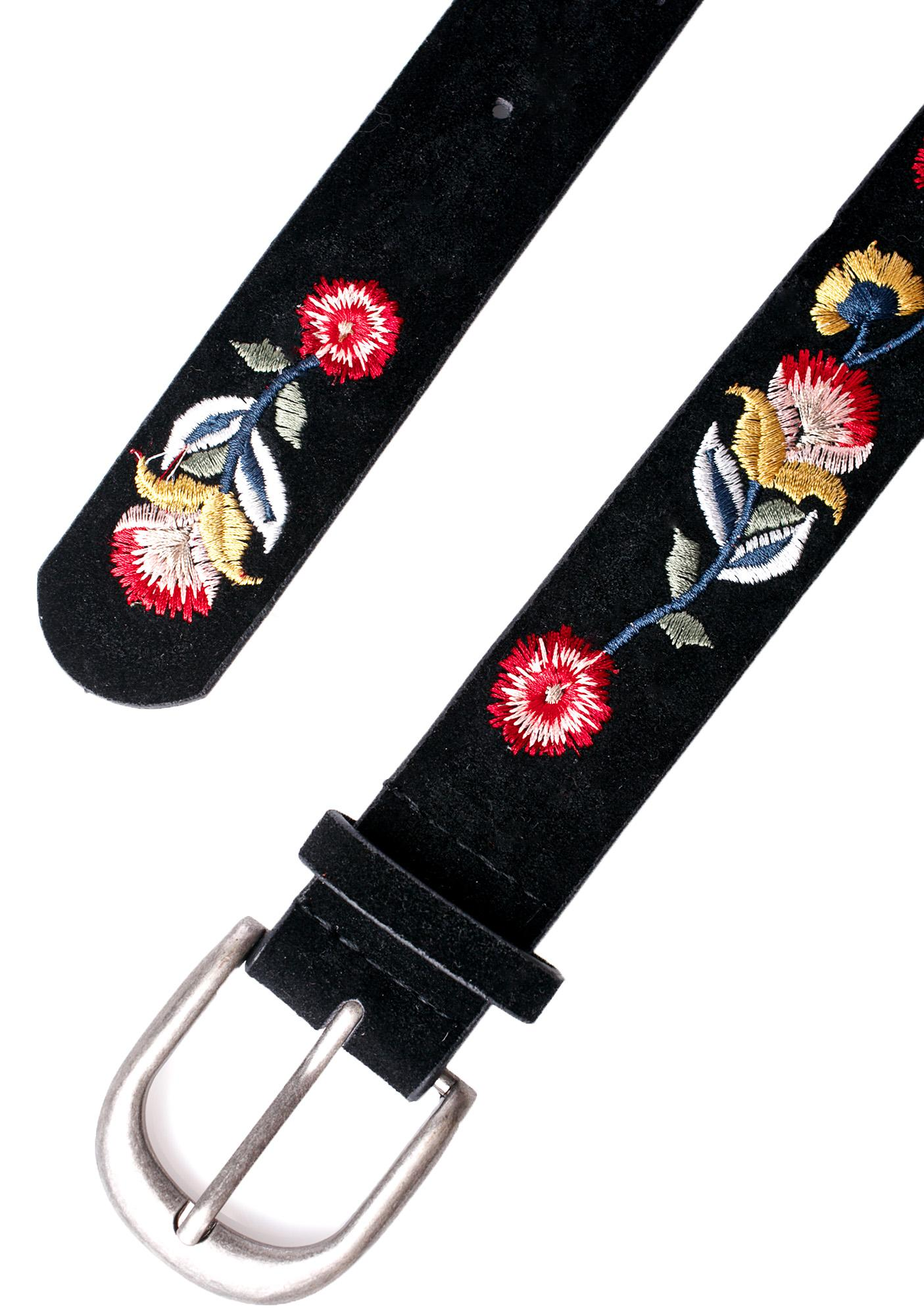 Desert Bloom Embroidered Belt