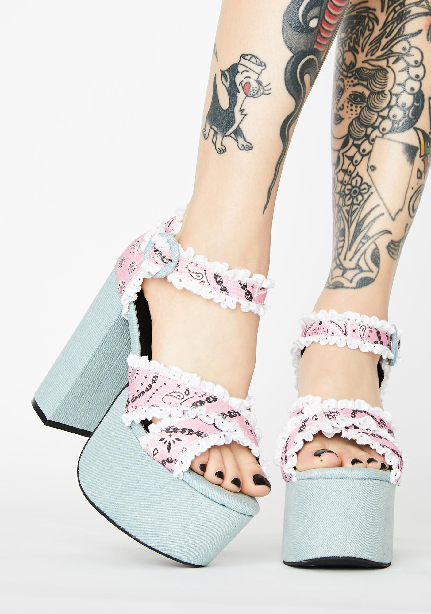 Sugar Thrillz Candy Bandit Platform Heels