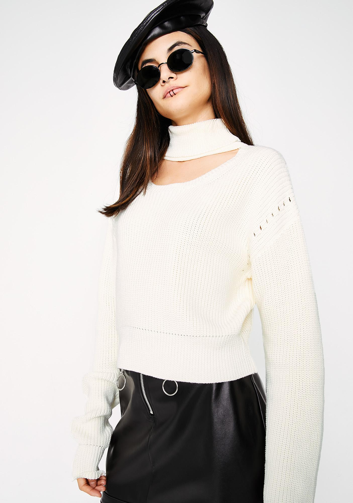 Better In Time Choker Sweater