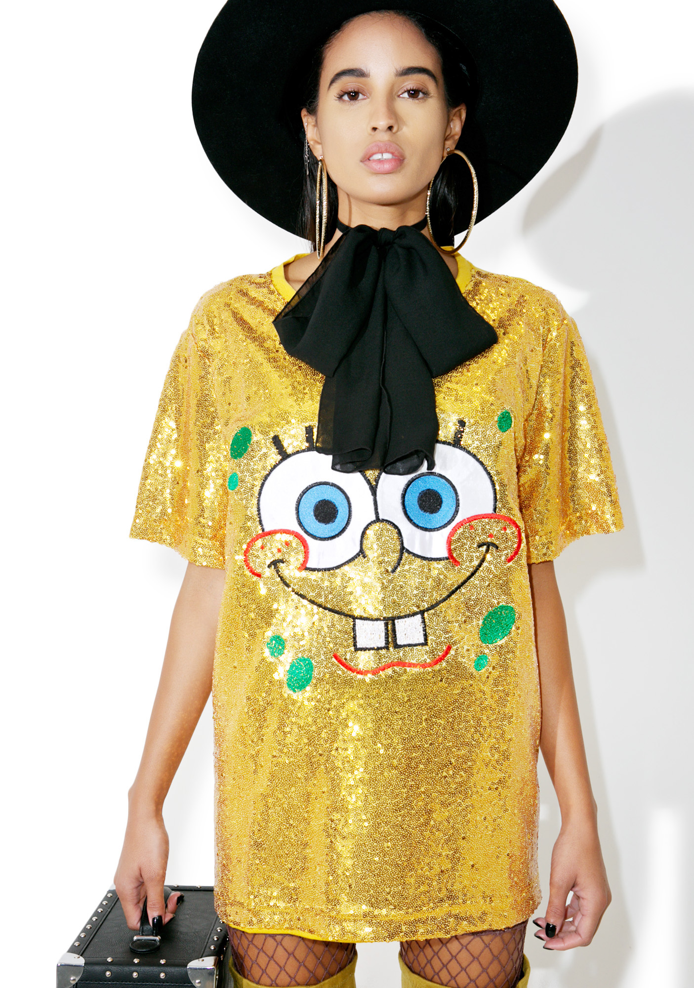 Yellow Sequin Shirt