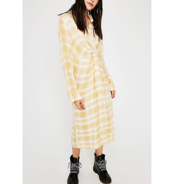 Say Hello Plaid Dress