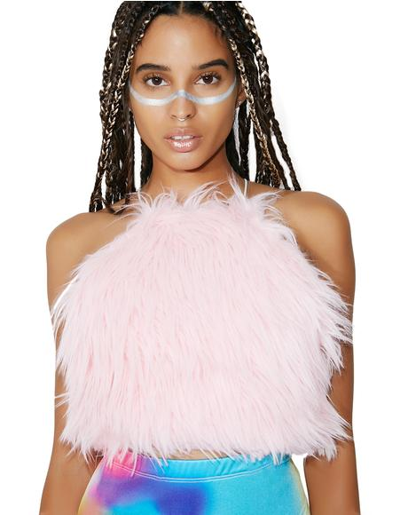 Candyfloss Fur Baby Crop Top