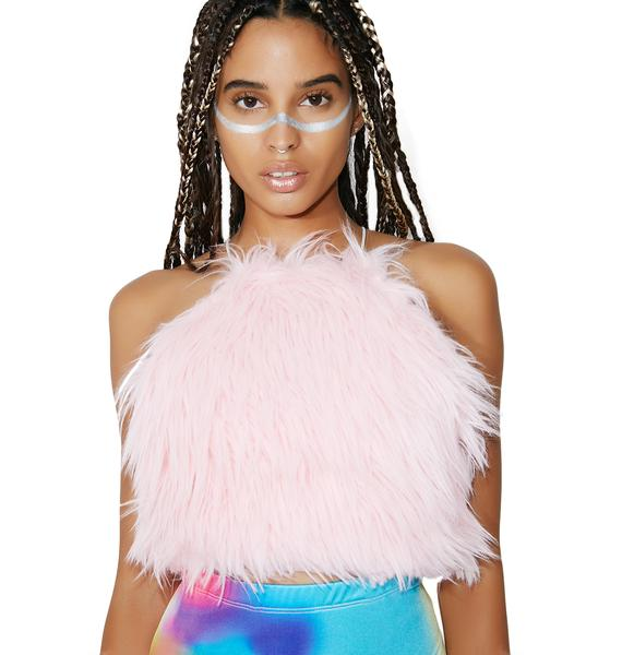 Posso Candyfloss Fur Baby Crop Top