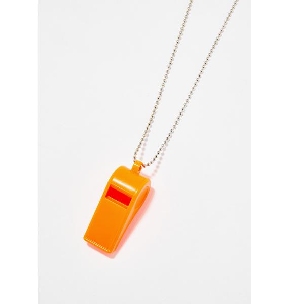 Blow The Whistle Chain Necklace