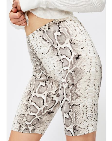 Fever High Snakeskin Shorts