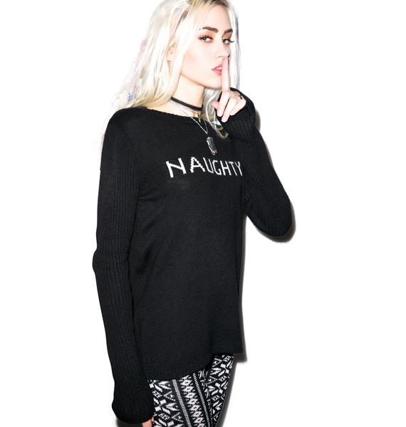 For Love & Lemons Little Miss Naughty Sweater