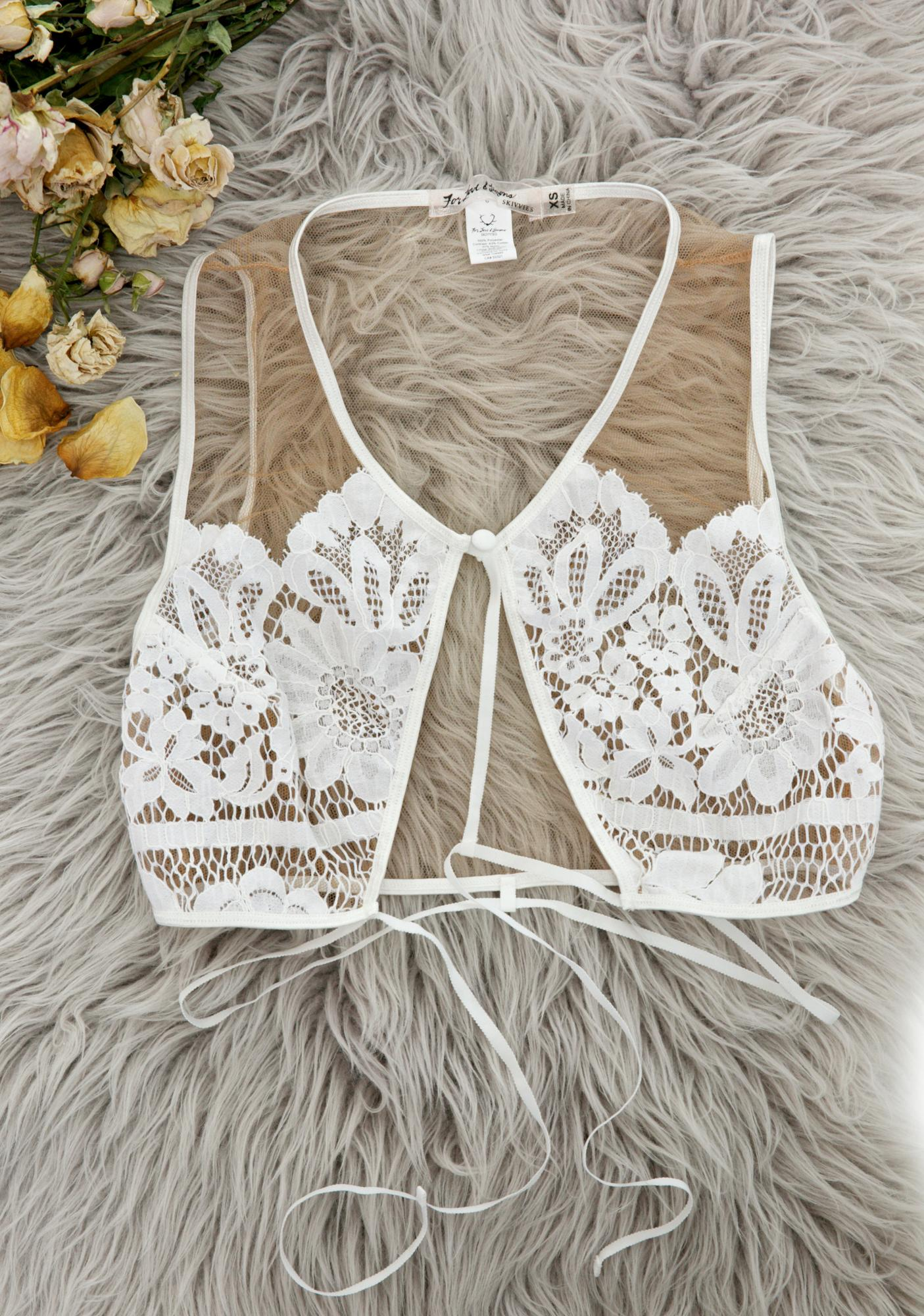For Love & Lemons Antique Ruby Keyhole Bra
