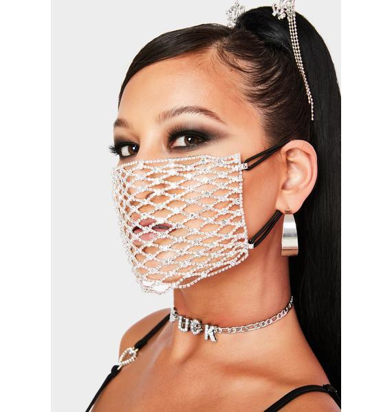 Drip Like This Rhinestone Face Mask