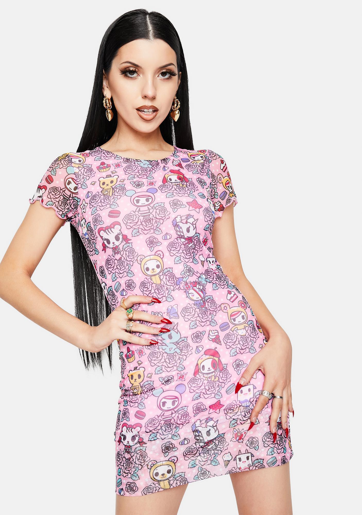 Tokidoki Garden Party Mesh Bodycon Dress