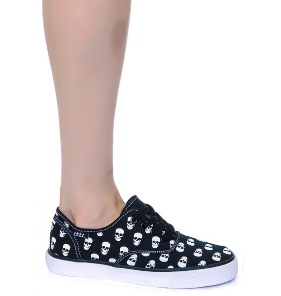 Menace Skull Polka Sneakers
