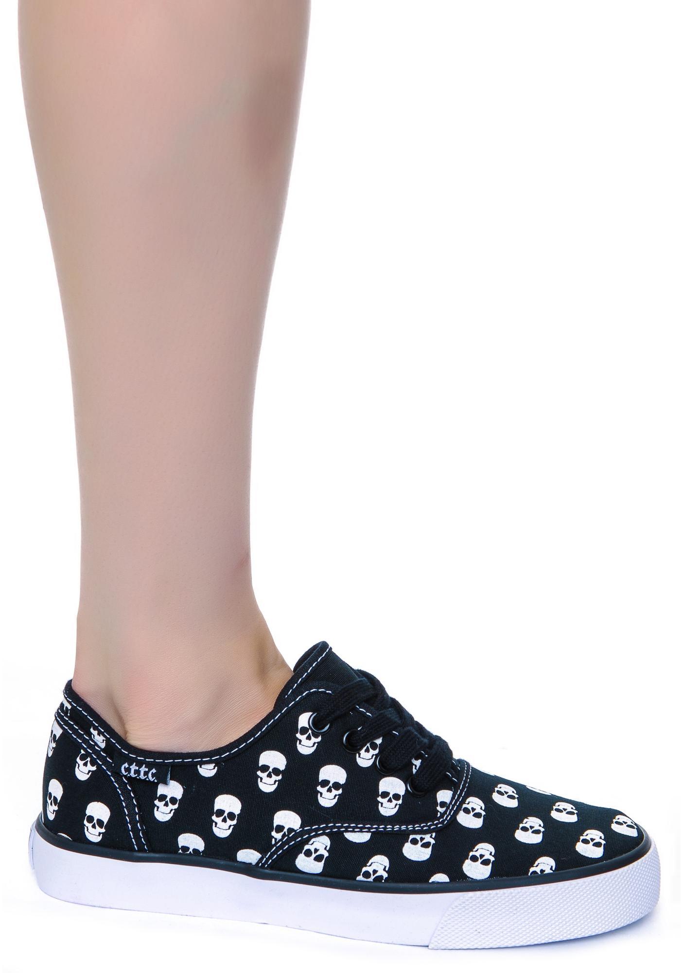 Menace Skull Polka Sneakers